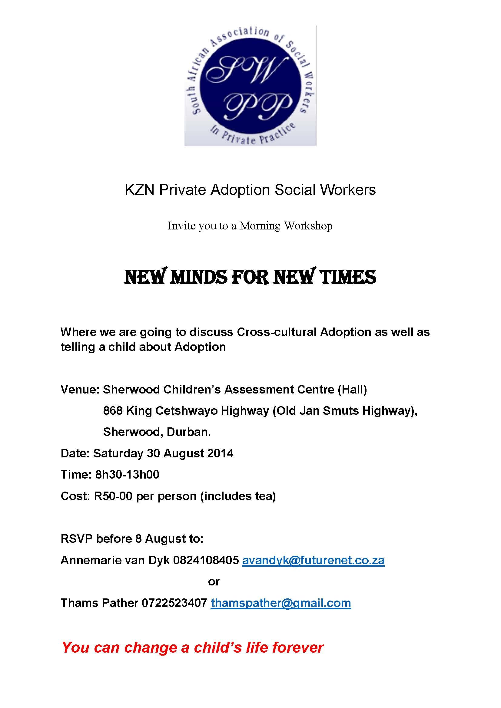 Invite to workshop